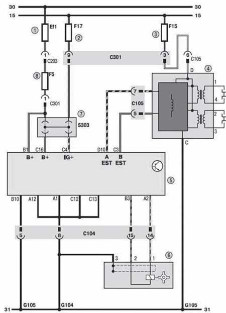 Схема ЭСУД (фрагмент 1)