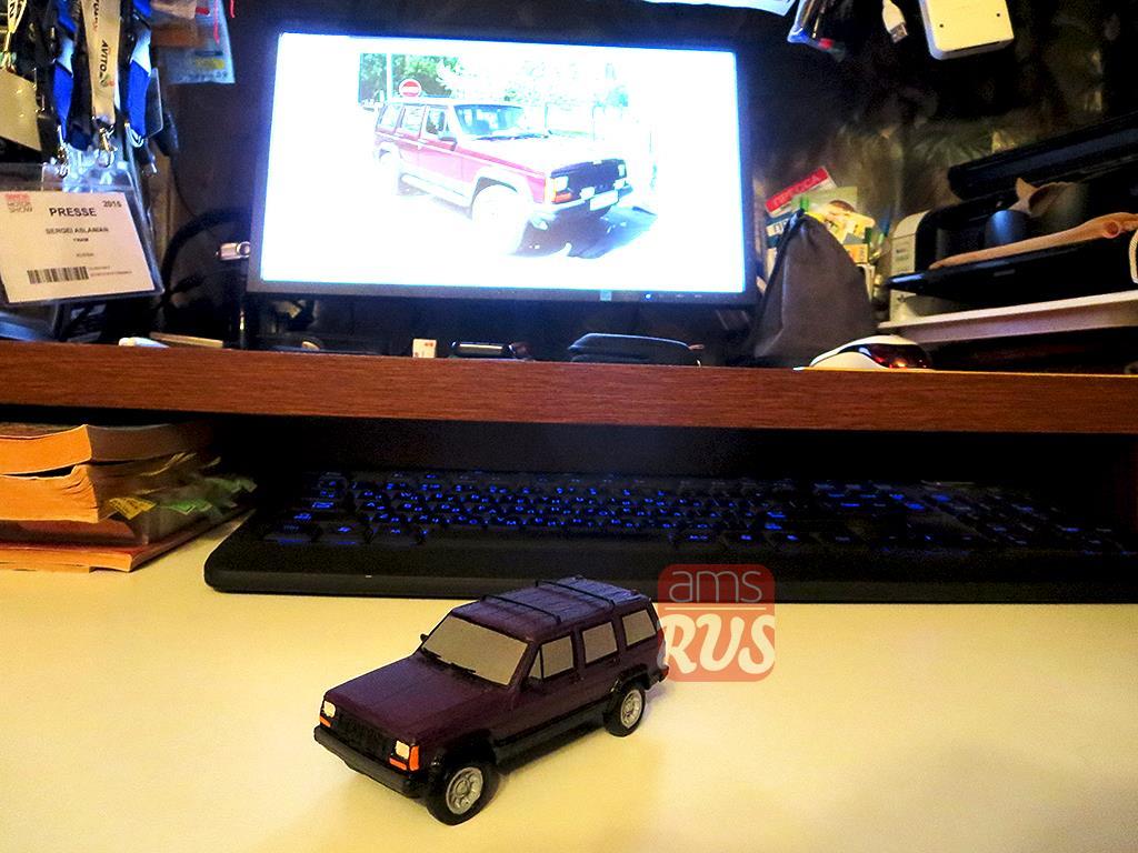 Модель Jeep Cherokee XJ, напечатанная на 3D-принтере
